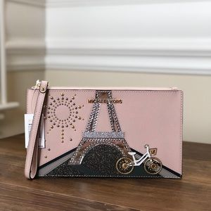 NWT Michael Kors eifel tower Paris wristlet